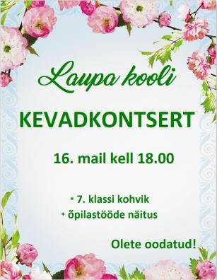 "2019 LP ""Kevadkontserti"" plakat"